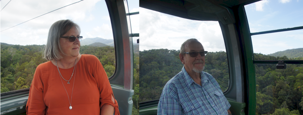 Sailing over the tree tops on the Skyrail